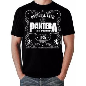 Camiseta Banda Pantera Jack Daniels Rock Metal Dimebag B55