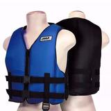 Colete Flutuante Wave Salva Vidas Reforçado 90kg - Cor Azul