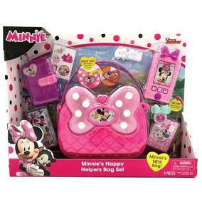 Cartera Minnie Mouse Disney Bolso C/ Celu Billetera Stickers
