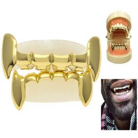 Grillz Importado Ouro Dente Hip Hop Pronta Entrega Fret Grát