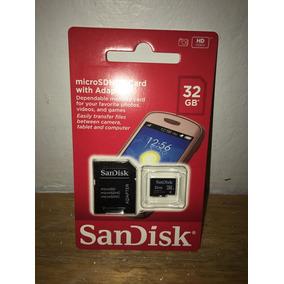 Memoria Sandisk 32gb Micro Sdhc Card Con Adaptador Nuevo