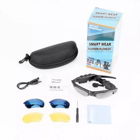 4bfa2344a713d Bluetooth Sport Fone Óculos De Sol Lente Azul  amarela preta