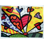 Poster Original Romero Britto A New Day Medidas 85 X 63 Cm,