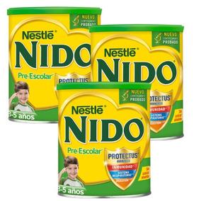3 Latas Leche Nido ® Pre-escolar De 3 A 5 Años 1.5kg (...