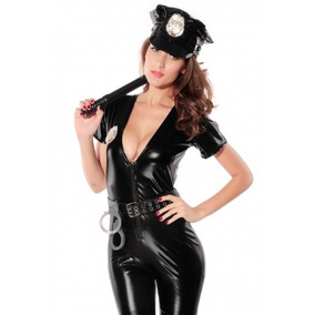 Disfraz De Policía Mujer Incluye Accesorios Envío Gratis