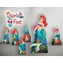 Ariel Pequena Sereia Kit Display Mdf Toten Festa Infantil