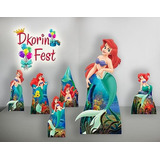 Ariel Pequena Sereia Kit Display Mdf Toten Festa Infantil