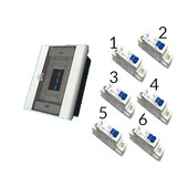 Kit Quadro Para 6/8 Com 6 Disjuntores Mono Completo