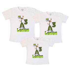 Kit Camisetas Aniversário Ben 10