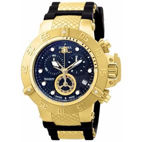 Relógio Invicta Masculino 15799 Subaqua 50mm Dourado E Fundo