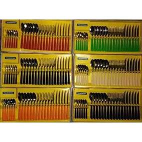 Juego De Cubiertos 24 Piezas Tramontina Diferentes Colores