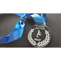 Medallas De Acrilico C/cinta 5 Cm De Diametro Torneo Premio