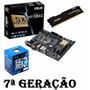 Kit Mb Asus H110m-c + Proc. I3 7100 + Mem 8gb - Testado