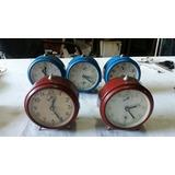 Antiguo Reloj Despertador Teddy Made In Swiss Funcionando