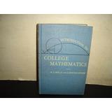 (w) Inglés - Antiguo Libro De Matemáticas, College - 1938