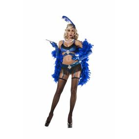 Fantasia Adulta Feminina Melindrosa Sexy Azul