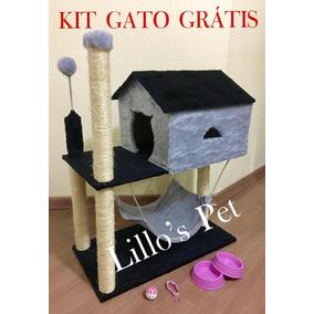 Arranhador De Gato Casa Com Rede + Kit Gato