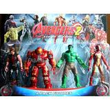 Muñeco Super Heroes Poderosos Avengerses 2 Pack Por 4 Figure
