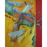 Cuadro Pintura Abstracta Original 71x100 Cm El Amor No Es..