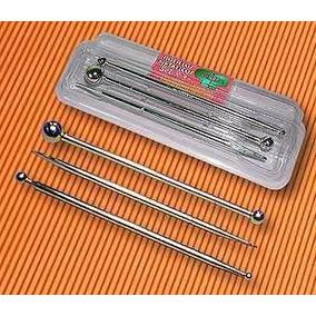 Set 2 Bolillos Mas 1 Esteca Metal Porcelana Fria Reposteria