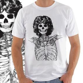 Camiseta Masculina Jim Morrison Caveira 2