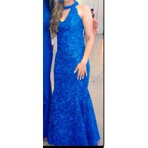 Vestido De Festa Longo Casamento Formatura Azul Royal