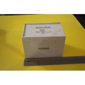 = Caixa De Charuto Vazia Em Madeira Don Felo Corona Tampa Qu