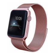 Pulseira Para Apple Watch 42mm Aço Inoxidavel Rose Milanese