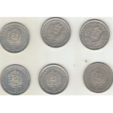 Moneda 5 Bs Niquel Año 1973,1977,1987,1988,1989,1990
