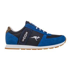 Tenis Casuales Kangaroos 3804 Azul Caballero