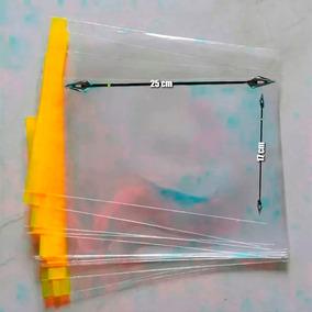 Envelope Plástico Transp 17x25 (200 Pçs) Aba Adesivada