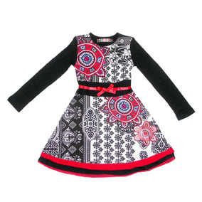 Vestido Desigual Para Niña Modelo Gaberones 7/8 A 13/14