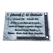 Placa De Mármol Recordatoria, Personalizada 20x15cm.