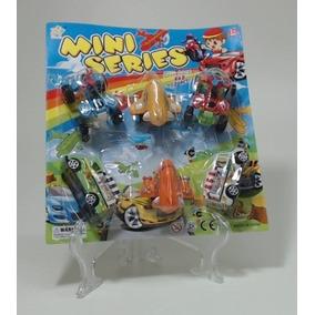 Brinq. Kit C/6pcs Carro/onibus/aviao Plast Blister (cx-s)