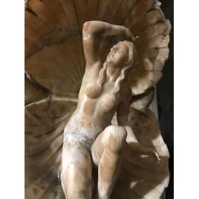 Antigua Escultura Alabastro Italiana