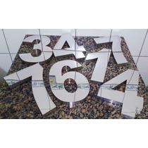 Kit 3 Unidades Números Residenciais De 20cm Em Aço Inox