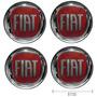 Kit Emblema Calota Fiat Ducato Resinado Pu 51mm Verm 4 Peça