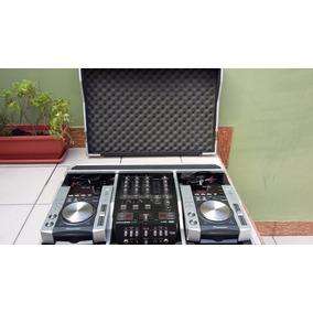 Par De Cdj200 Pioneer + Mixer Behringer + Case + Tripé