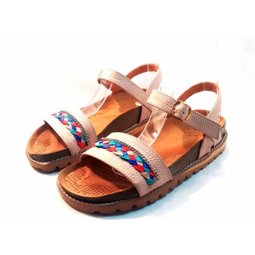Sandalias Bajas Cuero Talles Grandes Sam123 Tri Nude