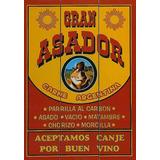 10 Carteles Chapa Vintage Gran Asador Parrilla Cocina Bar