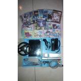 Consola Wii Chipeada + Control + Volante + Nunchuk + Juegos