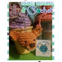 Cabeza Llavero Chilaquil Amigurumi Tejido A Crochet