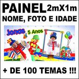 Painel De Aniversário Infantil Palhaço Patati Patata Willp31