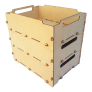 3 Cajas Apilables Fibrofacil Organizador Mdf Cajón Bandeja