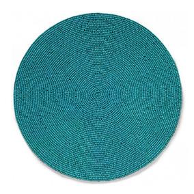 Jogo Americano Redondo Mosaico Atlantis Azul 38 Cm - 1754