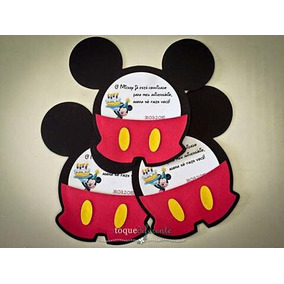 Convite Temas Mickey Ou Minie 50 Unidades