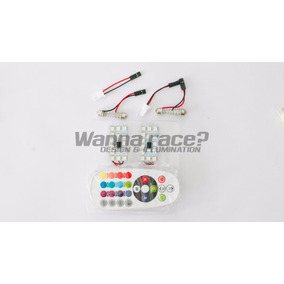 Placas Led T10 Tubular Rgb 15 Smd C/u - Inc Control Remoto