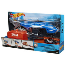 Veículos Da Cidade Helicóptero Swat Hot Wheels - Mattel
