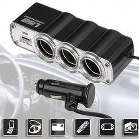 Kit Extensor Triplo Acendedor Cigarro+suporte Celular Carro