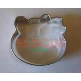Cortantes Kitty Gatita Galletitas Fondant Porcelana Fria